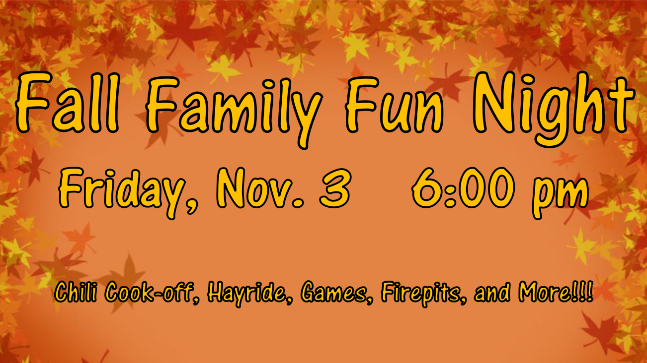 FALL FAMILY FUN NIGHT Friday Nov